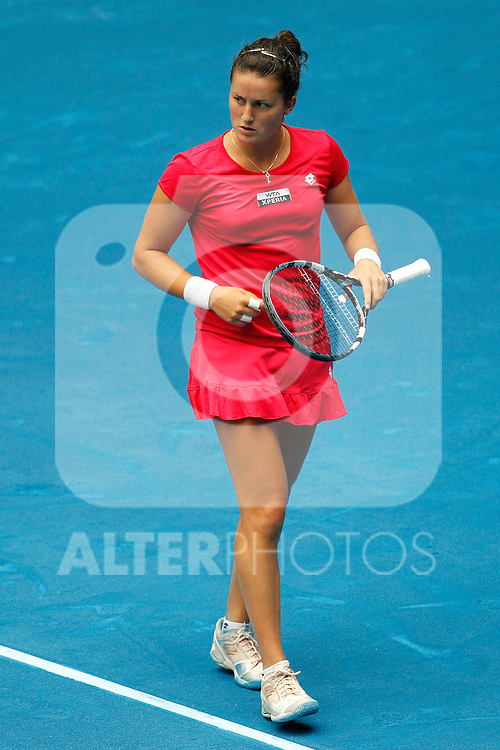 Spanish Lara Arruabarrena during Mutua Madrid Open 2012 match on may 6th 2012...Photo: Cesar Cebolla / ALFAQUI