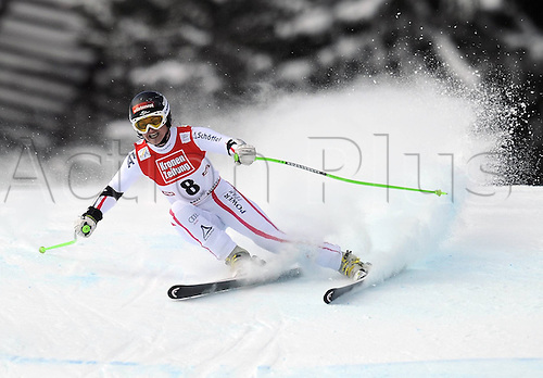 13.01.2013. St Anton, Austria.  Ski Alpine FIS World Cup Super G for women Elisabeth Goergl AUT