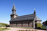 Kirche von 1893 in Gudhjem auf der Insel Bornholm, D&auml;nemark, Europa<br /> Church from 1893 in Gudhjem, Isle of Bornholm Denmark
