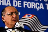 SAO PAULO, SP, 18 DE MAIO DE 2012 - INAUGURACAO 21 BPM/M- O governador Geraldo Alckmin durante a inauguracao nesta sexta-feira, 18, da nova sede do 21º Batalhão de Polícia Militar Metropolitano (BPM/M), que atende 560 mil moradores de bairros como o Alto da Mooca, Vila Diva, Parque São Lucas, Vila Alpina e Parque da Mooca, na zona leste da capital.FOTO: DEBBY OLIVEIRA / BRAZIL PHOTO PRESS