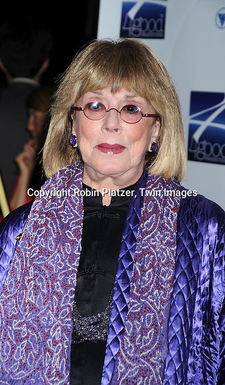 "Phyllis Newman ..posing for photographers at ""Defying Inequality"" The Broadway Concert on February 23, 2009 at The Gershwin Theatre in New York City. The concert was a benefit for Equal Rights for gay people to be able to marry. ....Robin Platzer, Twin Images"