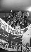 IRON MAIDEN - fans from Northampton UK in Poland at the start of the World Slavery Tour in Warsaw Poland - August 1984.  Photo credit: George Bodnar Archive/IconicPix