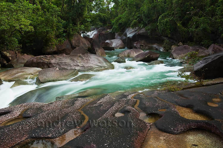 Devil's Pool at Babinda Boulders.  Babinda, Queensland, Australia