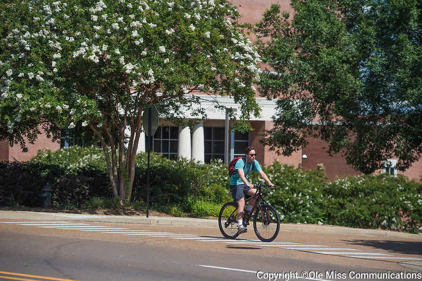 Biking.  Photo by Kevin Bain/Ole Miss Communications