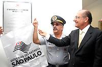 SAO PAULO, SP, 18 DE MAIO DE 2012 - INAUGURACAO 21 BPMM<br /> O governador Geraldo Alckmin durante a inauguracao nesta sexta-feira, 18, da nova sede do 21º Batalhão de Policia Militar Metropolitano na Mooca, zona leste.FOTO ALE VIANNA - BRAZIL PHOTO PRESS.