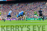 Donnchadh Walsh Kerry in action against James McCarthy Dublin at the National League Final in Croke Park on Sunday.