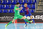 League LNFS 2017/2018 - Game 10.<br /> FC Barcelona Lassa vs CA Osasuna Magna: 3-3.<br /> Dani Saldise vs Aicardo.