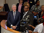 MIAMI, FL - OCTORBER 23: Former U.S. President Bill Clinton and Bishop Victor T. Curry attend New Birth Baptist Cathedral of Faith International on Sunday October 23, 2016 in Miami, Florida.  ( Photo by Johnny Louis / jlnphotography.com )