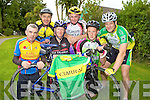 Riders from the Kerry clubs launching the Kerry County Cycling Championships which will held in Cordal on September 25th after a lapse of ten years l-r: Sean McCarron Earl of Desmond CC,  Dave Fleming Currow CC, Aileen Clifford The Chain Gang CC, Pete Landy Lee Strand, Edward Casey Killarney CC and Peter White Killorglin CC