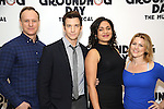 """John Sanders, Andy Karl, Barrett Doss and Rebecca Faulkenberry attend the """"Groundhog Day'' press day at The New 42nd Street Studios on February 2, 2017 in New York City."""
