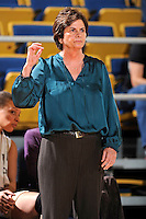21 January 2012:  FIU Head Coach Cindy Russo signals to her players in the first half as the Florida Atlantic University Owls defeated the FIU Golden Panthers, 50-49, at the U.S. Century Bank Arena in Miami, Florida.