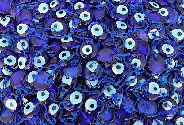 A pile of evil eyes in Turkey