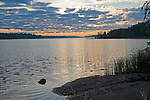 Sunrise on Scenic Näsijärvi Lake during Beautiful Finland Summer