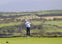 Darragh Walshe (Castletroy) on the 7th tee during the Munster Final of the AIG Barton Shield at Tralee Golf Club, Tralee, Co Kerry. 12/08/2017<br /> Picture: Golffile | Thos Caffrey<br /> <br /> <br /> All photo usage must carry mandatory copyright credit     (&copy; Golffile | Thos Caffrey)