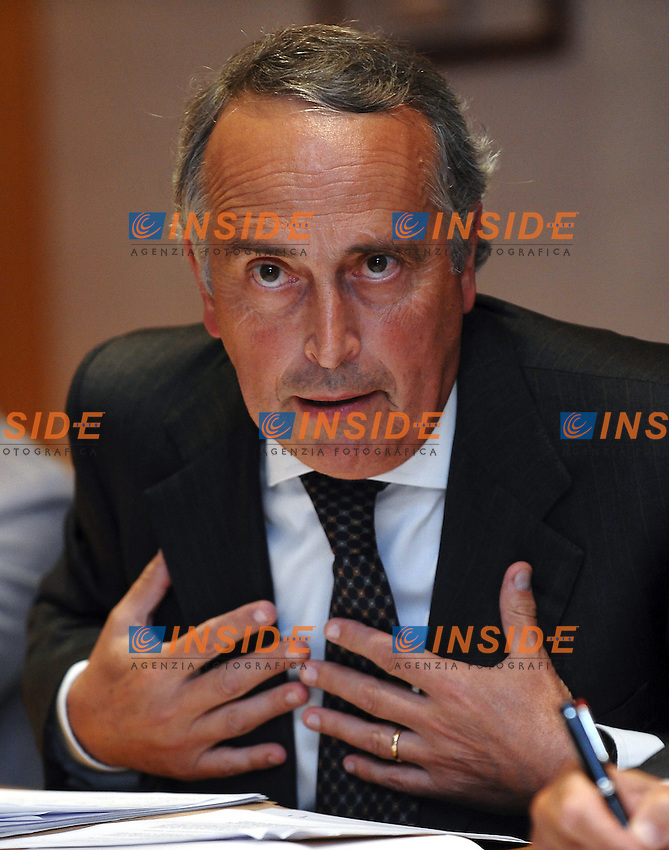 Giancarlo ABETE.Roma 22/8/2011 FIGC.Conferenza stampa sull'interpretazione dell'articolo 7 dell'Accordo Collettivo FIGC/LNPA/AIC.Foto Insidefoto Andrea Staccioli