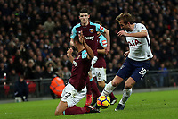 during Tottenham Hotspur vs West Ham United, Premier League Football at Wembley Stadium on 4th January 2018