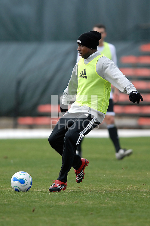 DC United defender Gonzalo Martinez at the first training session of the 2008 season at the auxiliary fields at RFK Stadium in Washington DC on Monday January 28, 2008.