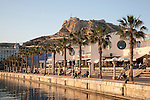 View of Port and Castle in Alicante, Spain
