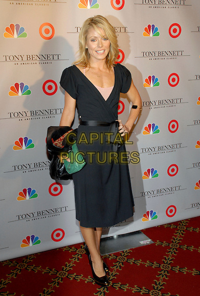 "KELLY RIPA.Premiere screening of ""Tony Bennett: An American Classic"", New York, NY, USA..November 15th, 2006.Ref: ADM/PH.full length black wrap dress hand on hip.www.capitalpictures.com.sales@capitalpictures.com.©Paul Hawthorne/AdMedia/Capital Pictures. *** Local Caption ***"