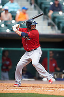 Columbus Clippers outfielder Tyler Holt (15) at bat during a game against the Buffalo Bisons on July 19, 2015 at Coca-Cola Field in Buffalo, New York.  Buffalo defeated Columbus 4-3 in twelve innings.  (Mike Janes/Four Seam Images)