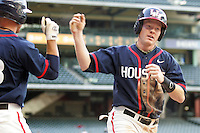 Houston Cougars SS Blake Kelso against the Texas Longhorns on Saturday March 6th, 2100 at the Astros College Classic in Houston's Minute Maid Park.  (Photo by Andrew Woolley / Four Seam Images)