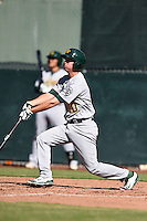 Oakland Athletics shortstop Trent Gilbert (10) during an Instructional League game against the San Francisco Giants on October 13, 2014 at Giants Baseball Complex in Scottsdale, Arizona.  (Mike Janes/Four Seam Images)