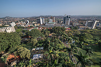 Uganda, Kampala, view from on top of the Sheraton hotel.