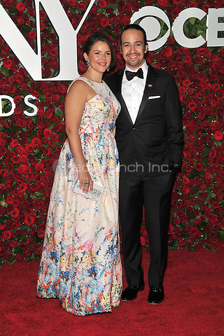 NEW YORK, NY - JUNE 12: Lin-Manuel Miranda,Vanessa Nada at the 70th Annual Tony Awards at The Beacon Theatre on June 12, 2016 in New York City. Credit: John Palmer/MediaPunch