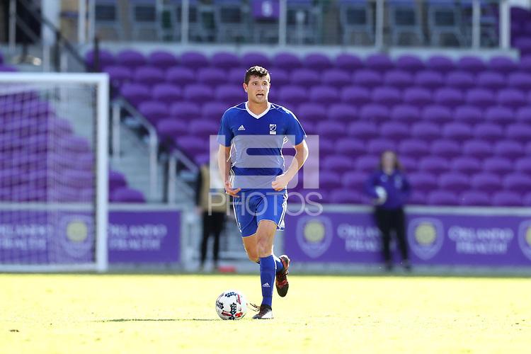 Orlando, Florida - Monday January 15, 2018: Tomas Hillard-Arce. Match Day 2 of the 2018 adidas MLS Player Combine was held Orlando City Stadium.