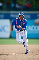 South Bend Cubs left fielder Kevonte Mitchell (25) runs the bases during a game against the Kane County Cougars on May 3, 2017 at Four Winds Field in South Bend, Indiana.  South Bend defeated Kane County 6-2.  (Mike Janes/Four Seam Images)