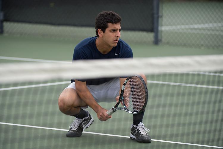 April 22, 2015; San Diego, CA, USA; Gonzaga Bulldogs tennis players Alvaro Nazal during the WCC Tennis Championships at Barnes Tennis Center.