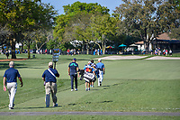 Matthew Wallace (ENG) and Tyrrell Hatton (ENG) head down 1 during round 1 of the Arnold Palmer Invitational at Bay Hill Golf Club, Bay Hill, Florida. 3/7/2019.<br /> Picture: Golffile | Ken Murray<br /> <br /> <br /> All photo usage must carry mandatory copyright credit (© Golffile | Ken Murray)