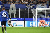 gol Junior Moraes of Shakhtar scoring a goal.<br /> Milano 01-10-2019 Stadio Giuseppe Meazza <br /> Football Champions League 2019//2020 <br /> Group Stage Group C <br /> Atalanta - Shakhtar Donetsk  <br /> Photo Image Sport / Insidefoto