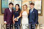 Michael Flynn, Katelyn Galvin, Andrea O'Callaghan and Edward O'Sullivan at the CBS The Green Students' Debs Ball at Ballyroe Heights Hotel on Thursday night