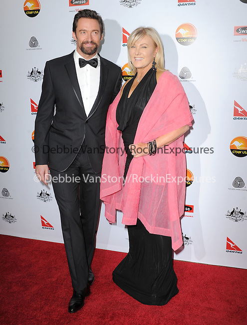 Hugh Jackman and Deborra-Lee Furness at The G'Day USA Black Tie Gala held at The JW Marriot at LA Live in Los Angeles, California on January 12,2013                                                                   Copyright 2013 Hollywood Press Agency