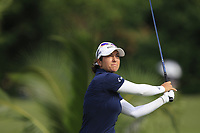 Marina Alex (USA) in action on the 2nd during Round 3 of the HSBC Womens Champions 2018 at Sentosa Golf Club on the Saturday 3rd March 2018.<br /> Picture:  Thos Caffrey / www.golffile.ie<br /> <br /> All photo usage must carry mandatory copyright credit (&copy; Golffile | Thos Caffrey)