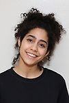 """Sharlene Cruz in rehearsal with Red Bull Theater's All-Female """"MACBETH"""" at the Vineyard Theatre Rehearsal Studios on April 12, 2019 in New York City."""