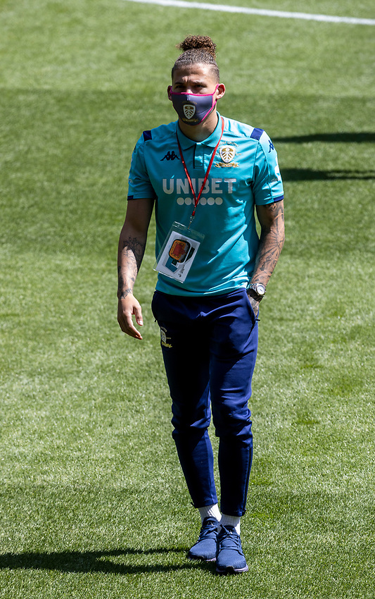 Leeds United's Kalvin Phillips inspecting the pitch before the match<br /> <br /> Photographer Andrew Kearns/CameraSport<br /> <br /> The EFL Sky Bet Championship - Swansea City v Leeds United - Sunday 12th July 2020 - Liberty Stadium - Swansea<br /> <br /> World Copyright © 2020 CameraSport. All rights reserved. 43 Linden Ave. Countesthorpe. Leicester. England. LE8 5PG - Tel: +44 (0) 116 277 4147 - admin@camerasport.com - www.camerasport.com