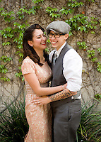 C.J. & Erica engagement in Old Town Pasadena, CA