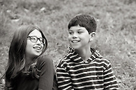 Sibling portrait in Riverside Park