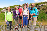 Siobhan Ó hAoungasa, Helena Clark, Katherine McMahon, Teresa O'Neill, John Carew and Mary Murphy, all from Brandon, at the start of the Mount Brandon Pilgrimage on Sunday.