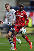 09/08/2015 Sky Bet League Championship Preston North End v Middlesbrough <br /> Paul Gallagher, Albert Adomah