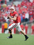 Wisconsin Badgers quarterback Scott Tolzien (16) rolls out of the pocket during an NCAA college football game against the Indiana Hoosiers on November 13, 2010 at Camp Randall Stadium in Madison, Wisconsin. The Badgers won 83-20. (Photo by David Stluka)