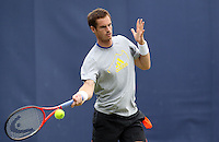 11.06.13 London, England. Andy Murray practicing during the The Aegon Championships from the The Queen's Club in West Kensington.
