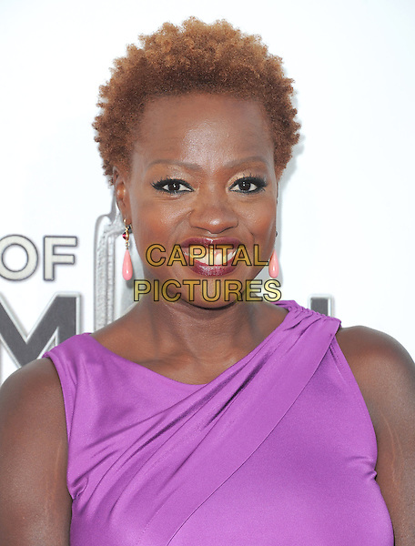 "Viola Davis  .""The Book of Mormon"" Hollywood Opening night Held At The Pantages theatre, Hollywood, California, USA..September 12th, 2012.headshot portrait pink purple sleeveless  .CAP/DVS.©DVS/Capital Pictures."