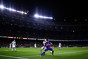 11th January 2018, Camp Nou, Barcelona, Spain; Copa del Rey football, round of 16, 2nd leg, Barcelona versus Celta Vigo; Luis Suarez of FC Barcelona shields the ball during a attack