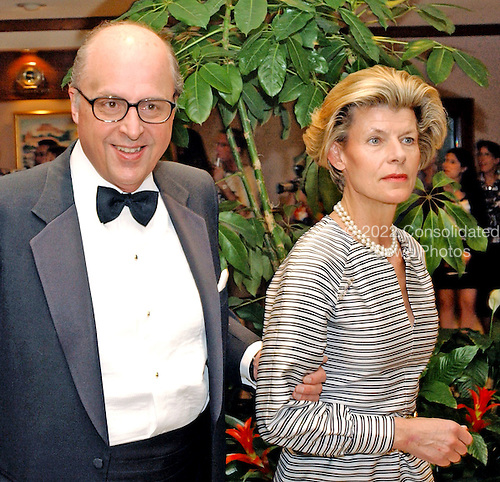 Washington, DC - May 1, 2004 -- John Negroponte and his wife, Diana, arrive for the 2004 White House Correspondents Association Dinner in Washington, D.C. on May 1, 2004.  Negroponte was recently confirmed as the new United States Ambassador to Iraq..Credit: Ron Sachs / CNP.(RESTRICTION: No New York Metro or other Newspapers within a 75 mile radius of New York City)