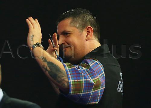 29.12.2015. Alexandra Palace, London, England. William Hill PDC World Darts Championship. World Champion Gary Anderson wins the match