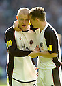 13/05/2006         Copyright Pic: James Stewart.File Name : sct_jspa21_hearts_v_gretna.GAVIN SKELTON IS CONSOLED BY JAMES GRADY AFTER HE MISSED THE FINAL PENALTY THAT GAVE HEARTS THE CUP...........Payments to :.James Stewart Photo Agency 19 Carronlea Drive, Falkirk. FK2 8DN      Vat Reg No. 607 6932 25.Office     : +44 (0)1324 570906     .Mobile   : +44 (0)7721 416997.Fax         : +44 (0)1324 570906.E-mail  :  jim@jspa.co.uk.If you require further information then contact Jim Stewart on any of the numbers above.........