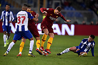 Fernando of Porto , Aleksandar Kolarov and Edin Dzeko of AS Roma , Otavio of Porto <br /> Roma 12-2-2019 Stadio Olimpico Football Champions League 2018/2019 round of 16 1st leg AS Roma - Porto  <br /> Foto Andrea Staccioli / Insidefoto